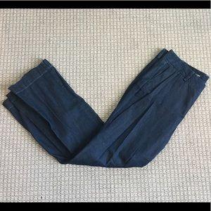 Loft Curvy Navy Trousers